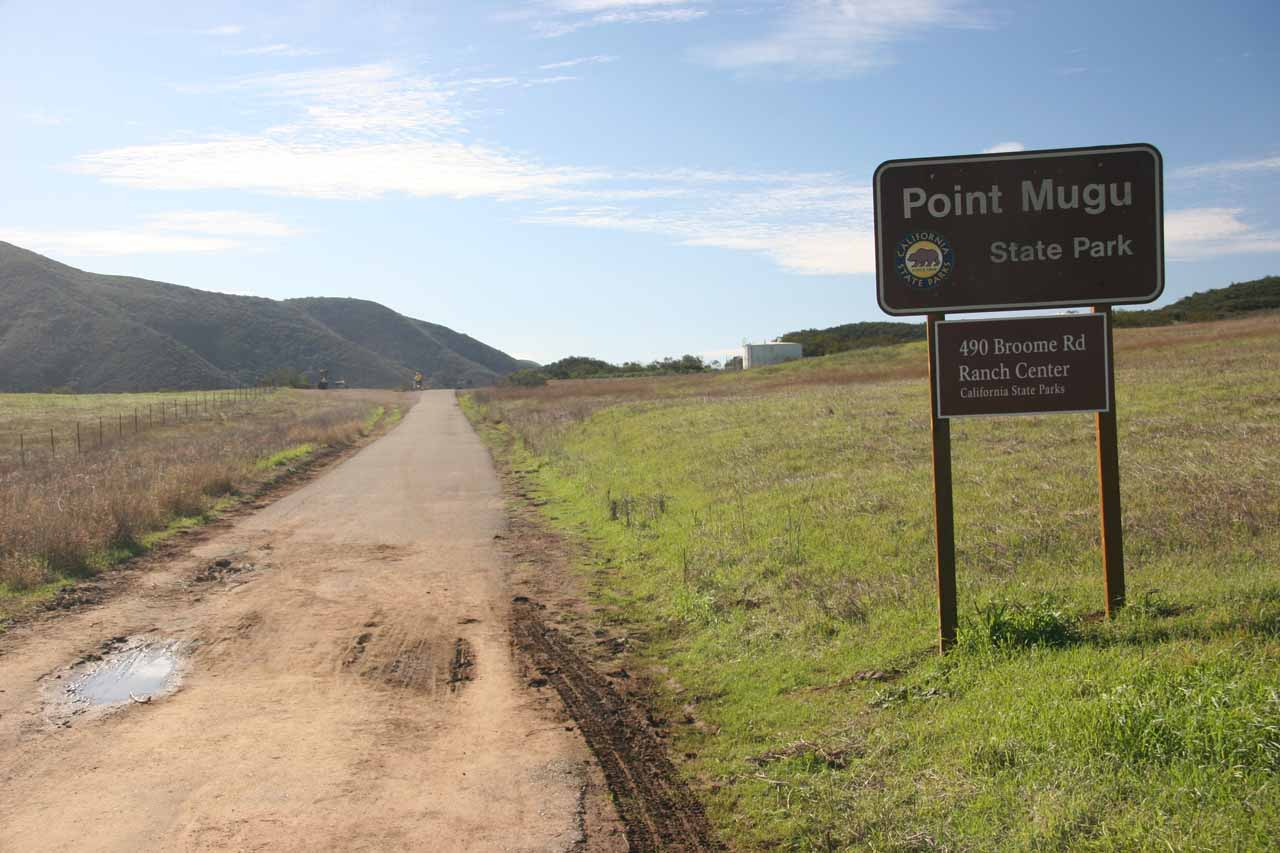 Entering Point Mugu State Park