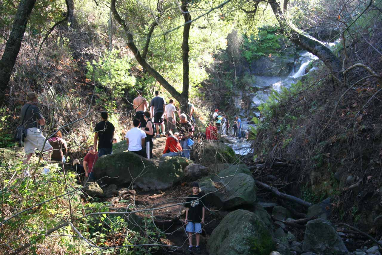 We weren't kidding when we said Sycamore Canyon Falls was popular