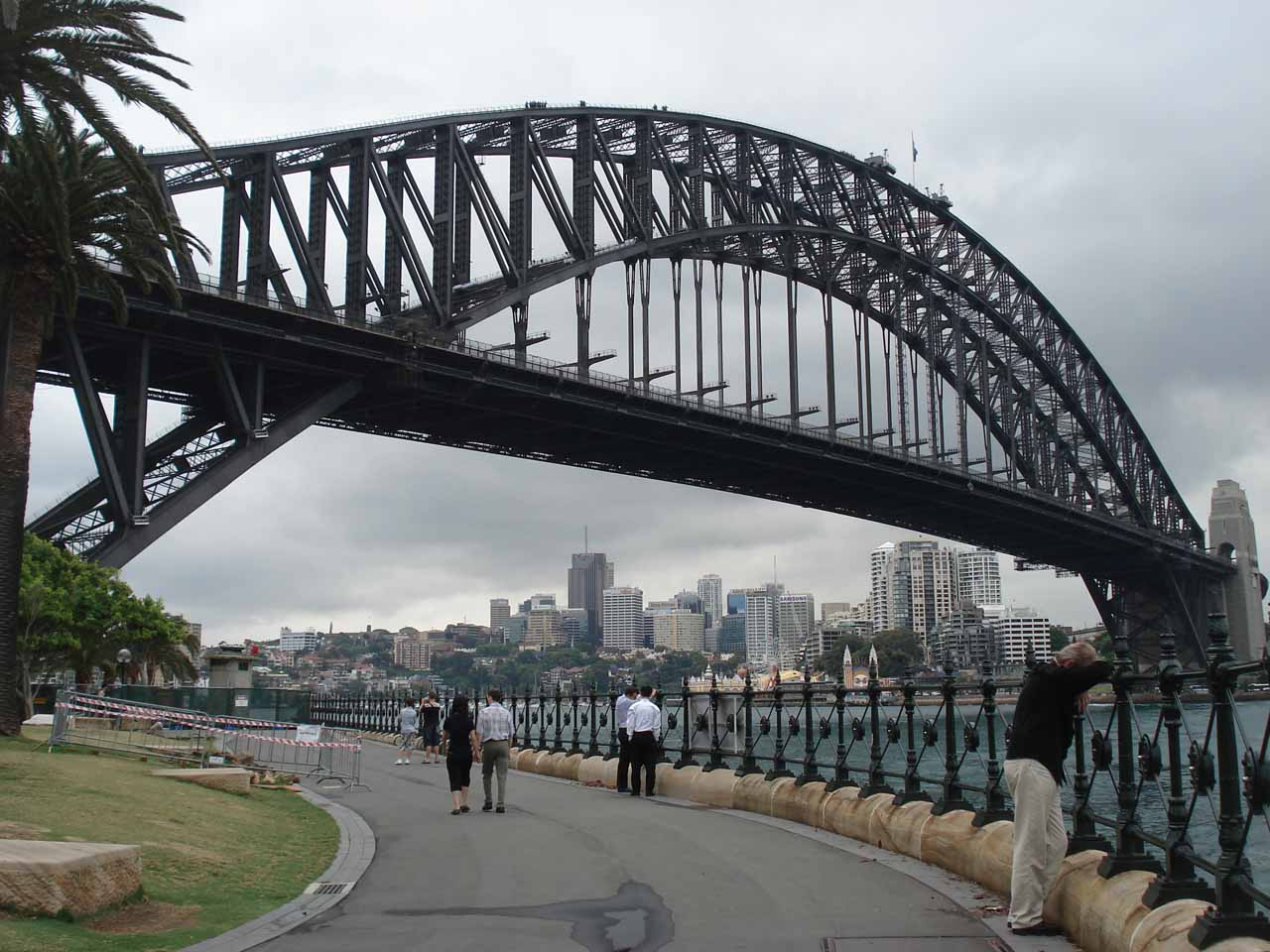 Walking beneath the Sydney Harbour Bridge
