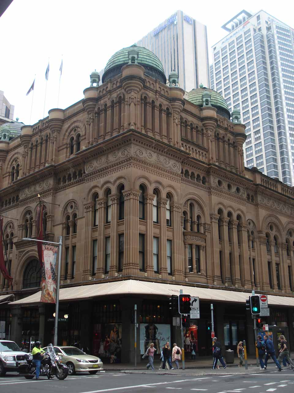 The exterior of an interesting building in the Sydney CBD
