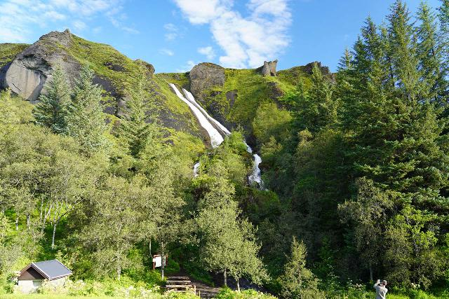 Systrafoss_052_08072021 - Contextual look at Systrafoss when it was performing in August 2021, but notice the picnic area and signage that I swore wasn't there when we first came here in July 2007
