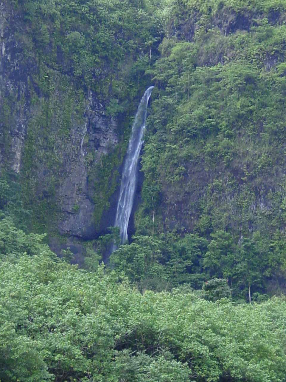 Closeup of the Topatari Waterfall
