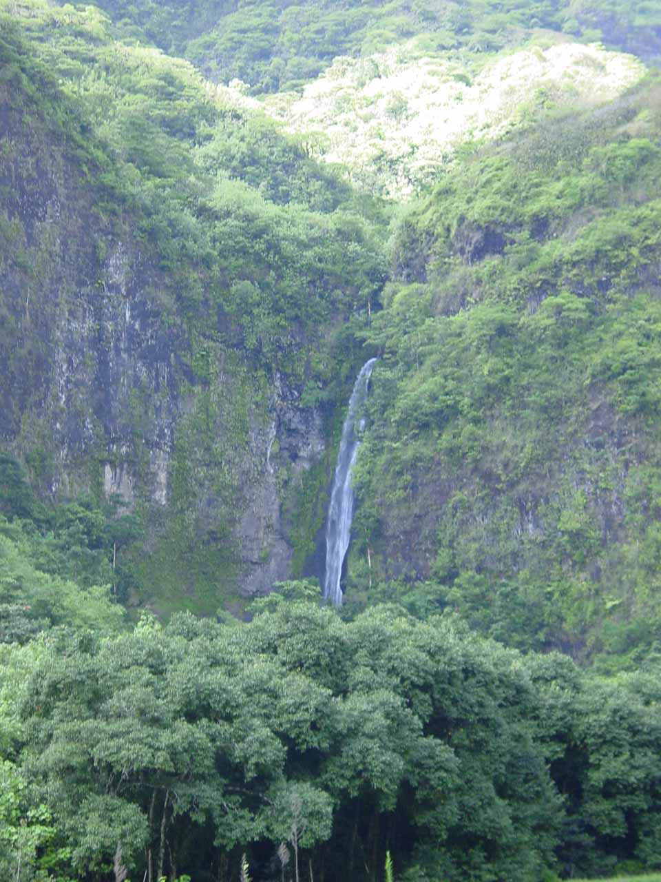 Topatari Waterfall, which was one of the main waterfalls seen on this 4wd tour through Papenoo Valley