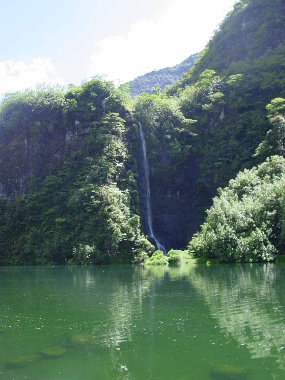 Puraha Falls in Papenoo Valley