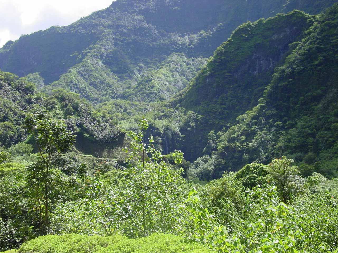 Looking back at the Puraha Waterfall