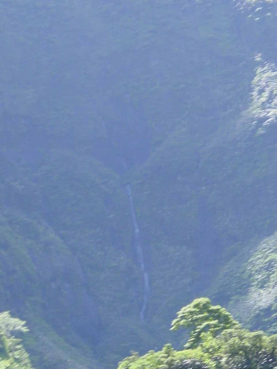 One of the waterfalls we spotted on the way up to the Relais de la Maroto