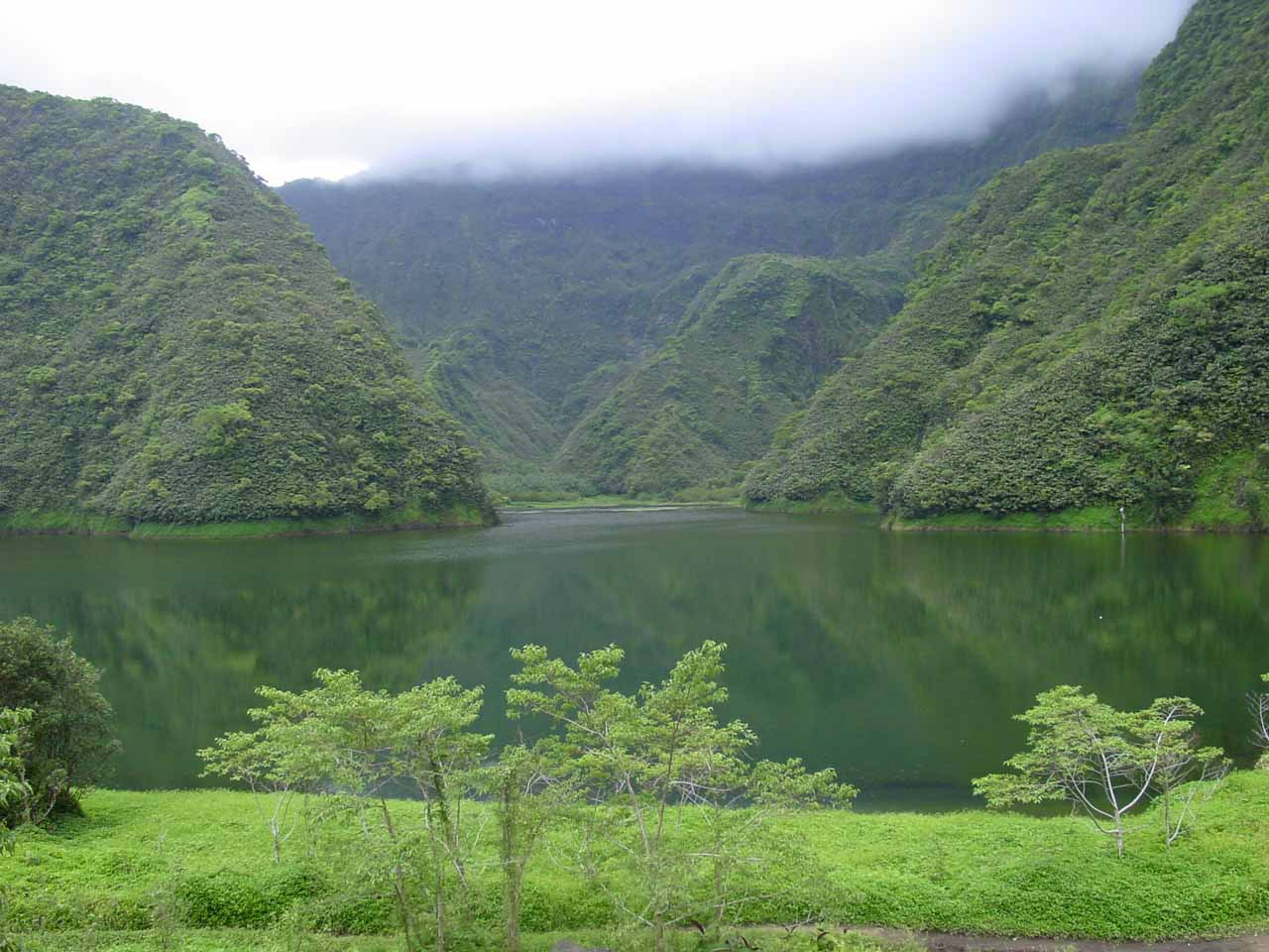 Lake Vaihiria, which was on the southern side of Tahiti Nui after having passed through Papenoo Valley