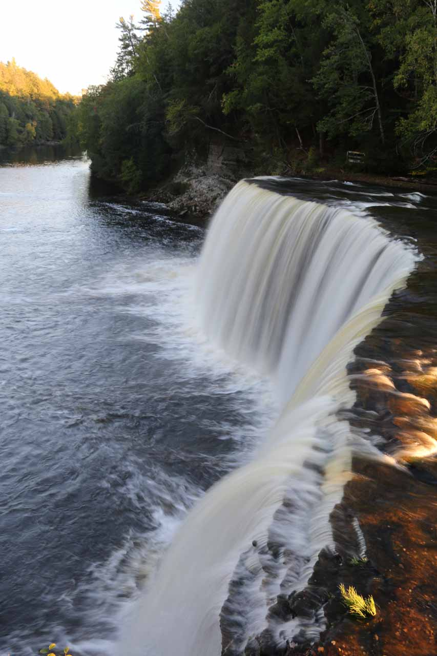 It was about 90 minutes drive east of Munising to get to the classically-shaped Upper Tahquamenon Falls, which was probably Michigan's most impressive waterfall