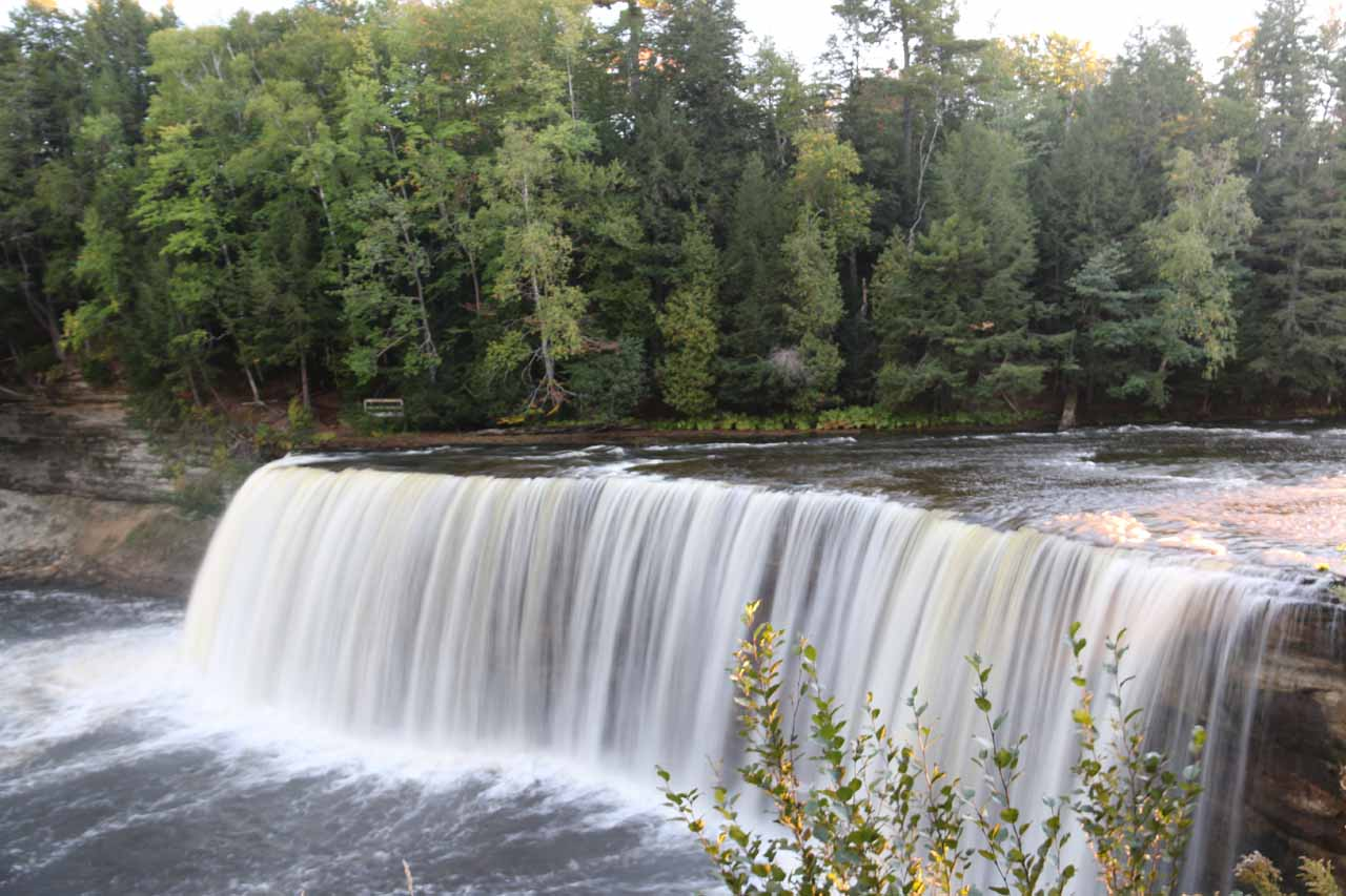 This was the most frontal view of the Upper Tahquamenon Falls that I could get from the viewing area right by its brink