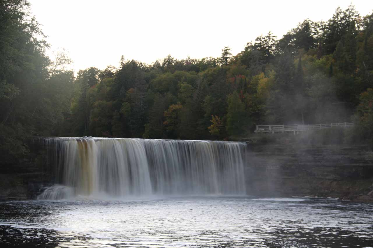 This was the direct riverside view of the Upper Tahquamenon Falls from the end of the boardwalk in the gorge