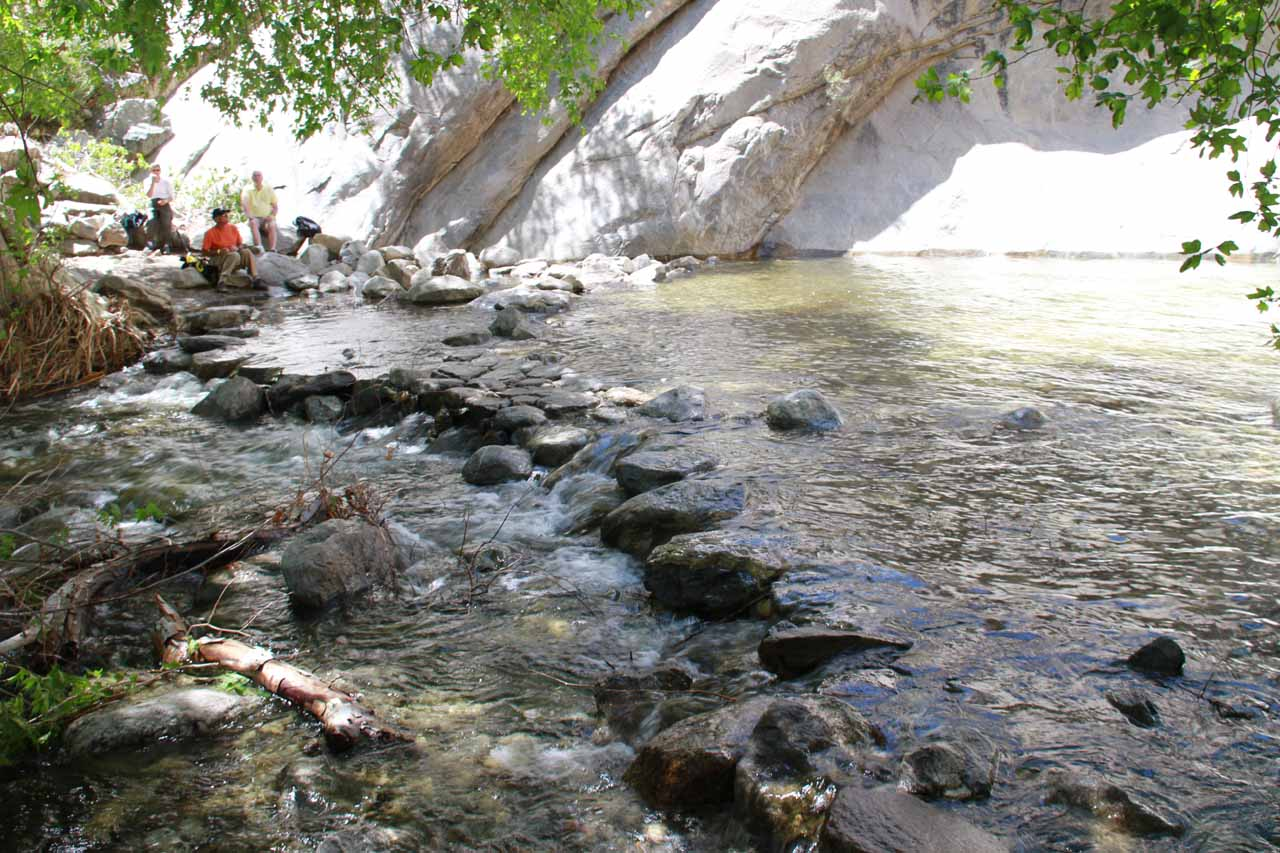 Looking back at the rock hopping stream traverse
