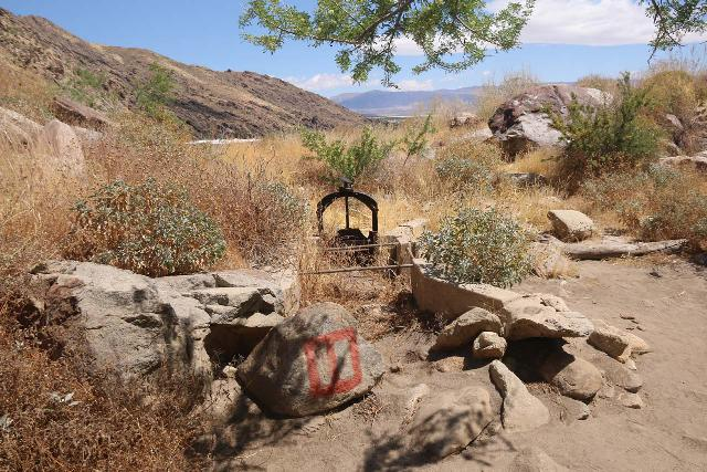 Tahquitz_Falls_027_05192019 - An old contraption that once served as a ditch for the Cahuilla since 1830