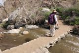 Tahquitz_Falls_035_02252017 - Dad crossing one of the bridges over Tahquitz Creek en route to Tahquitz Falls in February 2017