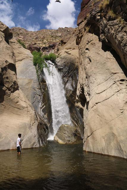 Tahquitz_Falls_053_05192019 - Tahquitz Falls when we made a return visit in May 2019. Notice how deep the plunge pool was for this guy who tried to brave the icy cold water to get as close as he could to the falls