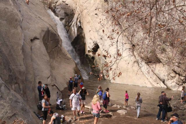 Tahquitz_Falls_078_02252017 - Descending to the plunge pool area in front of Tahquitz Falls