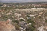 Tahquitz_Falls_115_02252017 - Looking down towards one of the crossings of Tahquitz Creek with Palm Springs in the distance