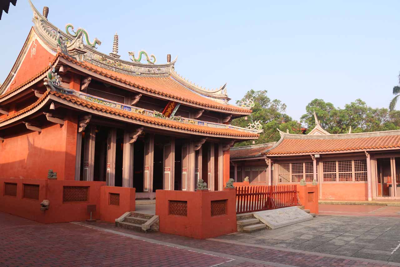 In addition to the Chihkan Towers in Tainan, we also visited the Confucius Temple in the city center