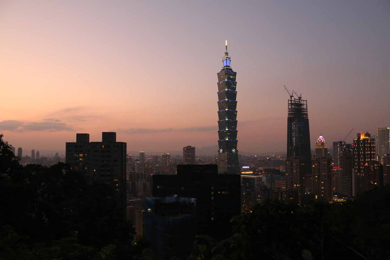 The city of Taipei was within a day trip of the Xiao Wulai Waterfall so it made sense to use the city as a base if the desire was to take a break from the city itself