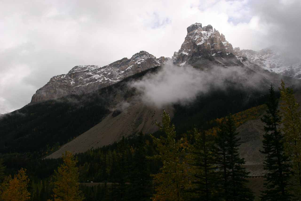 Some beautiful mountains seen on the way into Yoho Valley