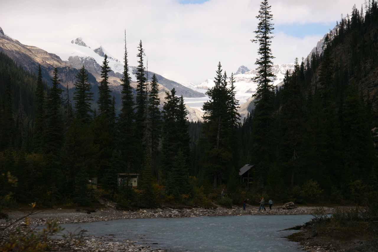 Yoho Glacier in the distance