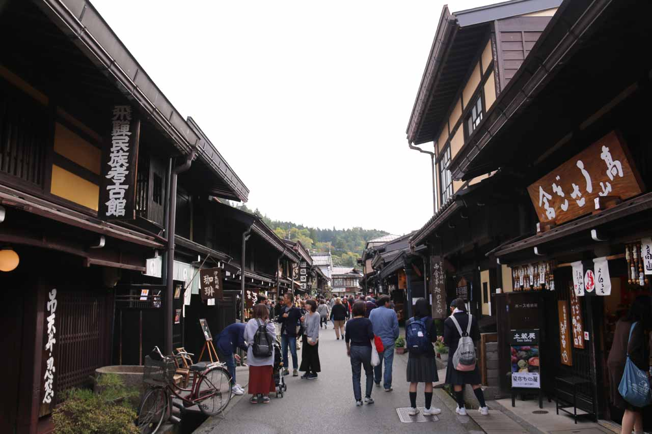 Takayama was to the west of Shirahone Onsen, and this charming town featured the atmospheric Sanmachi alleyways