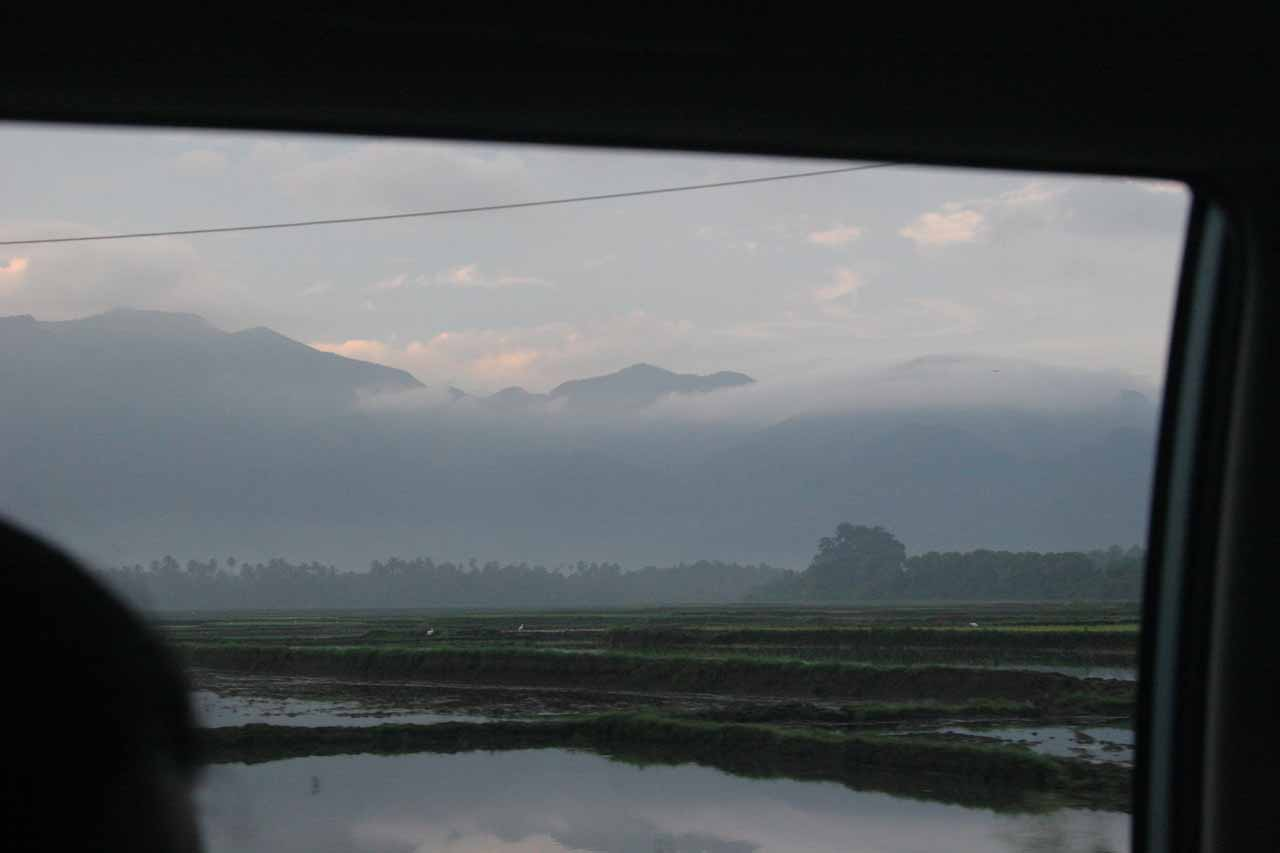 Looking out the car window at the Western Ghats