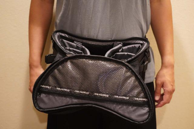 Wearing the never-used Tamrac Extreme Series waist bag