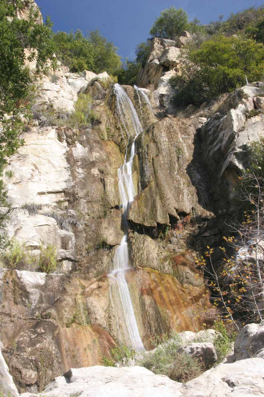 The falls at last