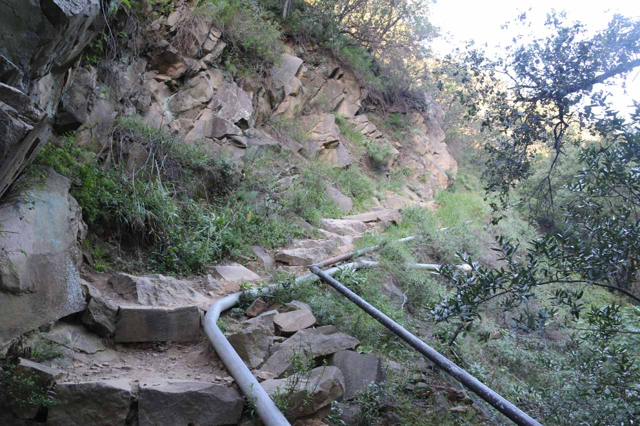 Continuing to follow the water pipes as the West Fork Cold Springs Trail kept climbing