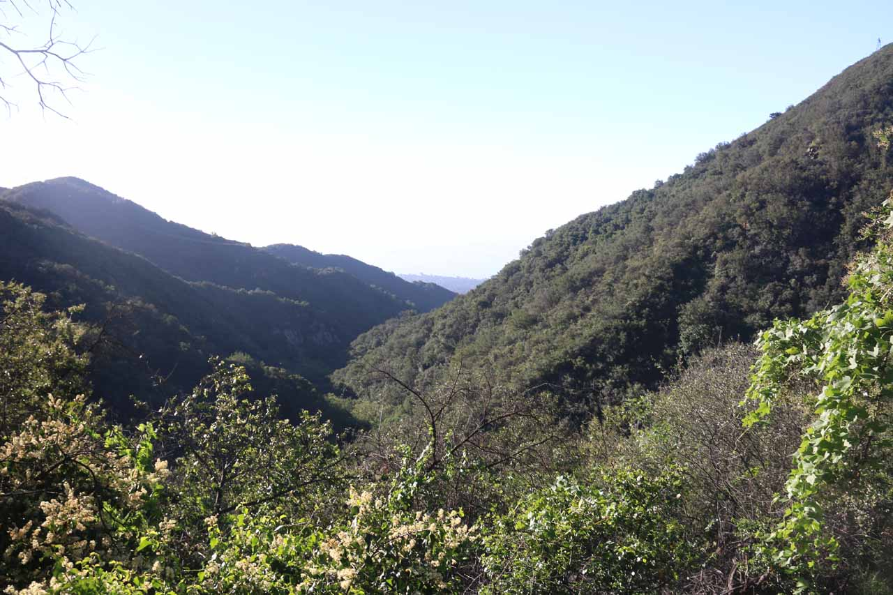 While inadvertently taking another unnecessary detour, I managed to get this attractive view of the contours of Cold Springs Canyon