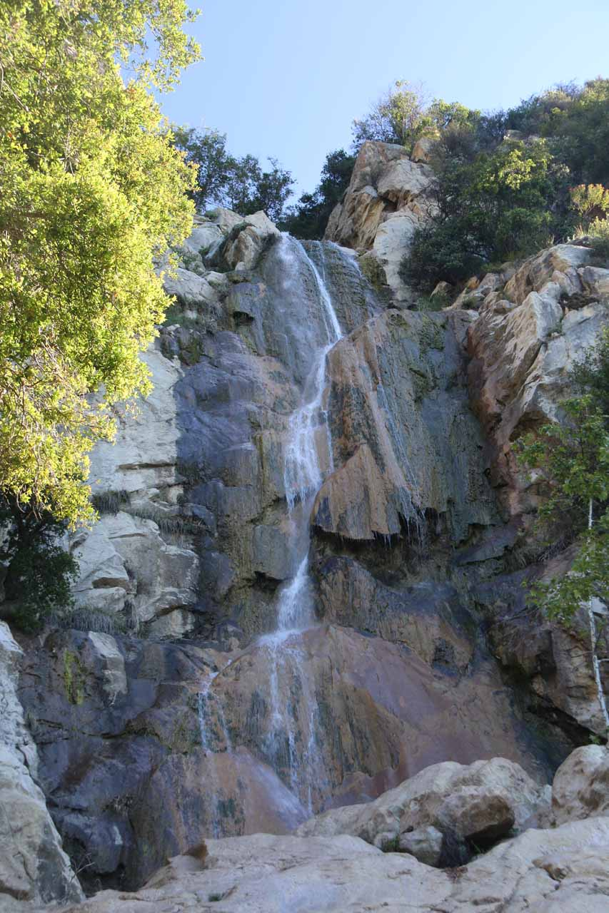 More zoomed in look at the impressive Tangerine Falls