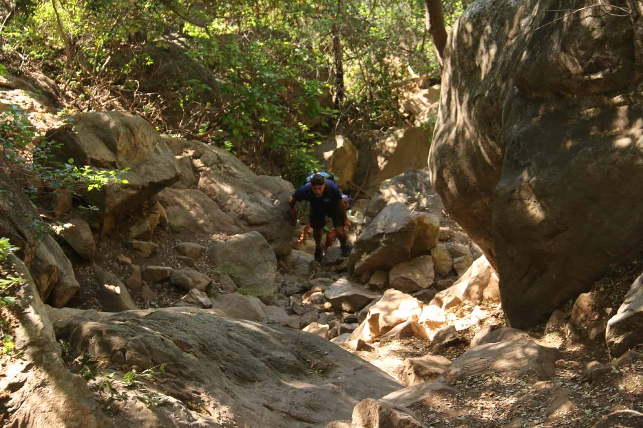 As I was making my way back down from Tangerine Falls, this couple was making their way up to the falls