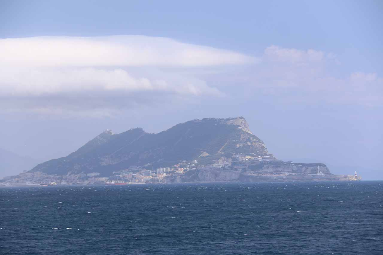 Looking towards the rock of Gibraltar