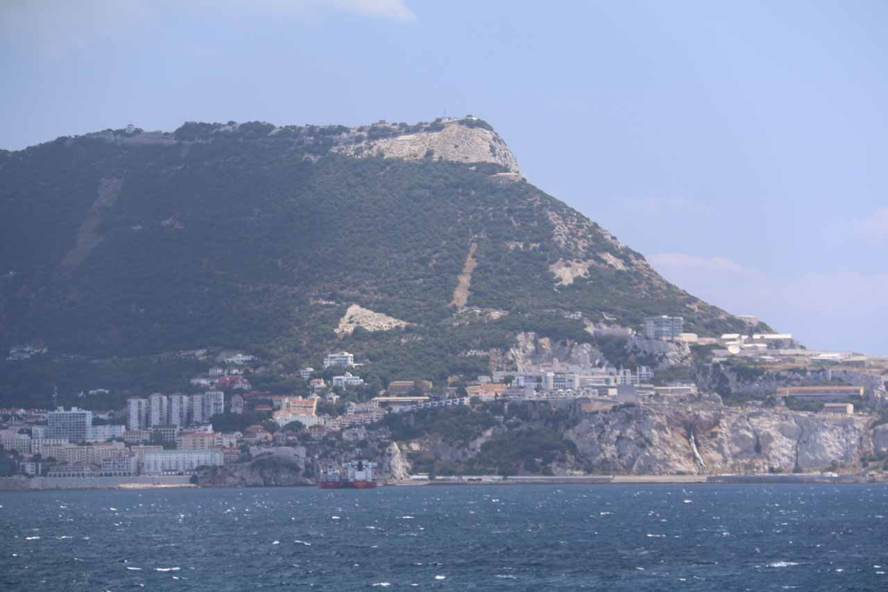 Closer look at the Rock of Gibraltar