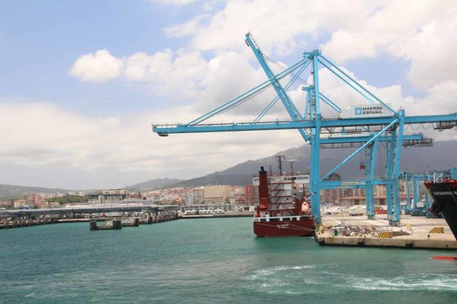 This was the Port of Algeciras when our 2-hour-late ferry arrived, which prevented us from securing our rental car before they closed for the weekend