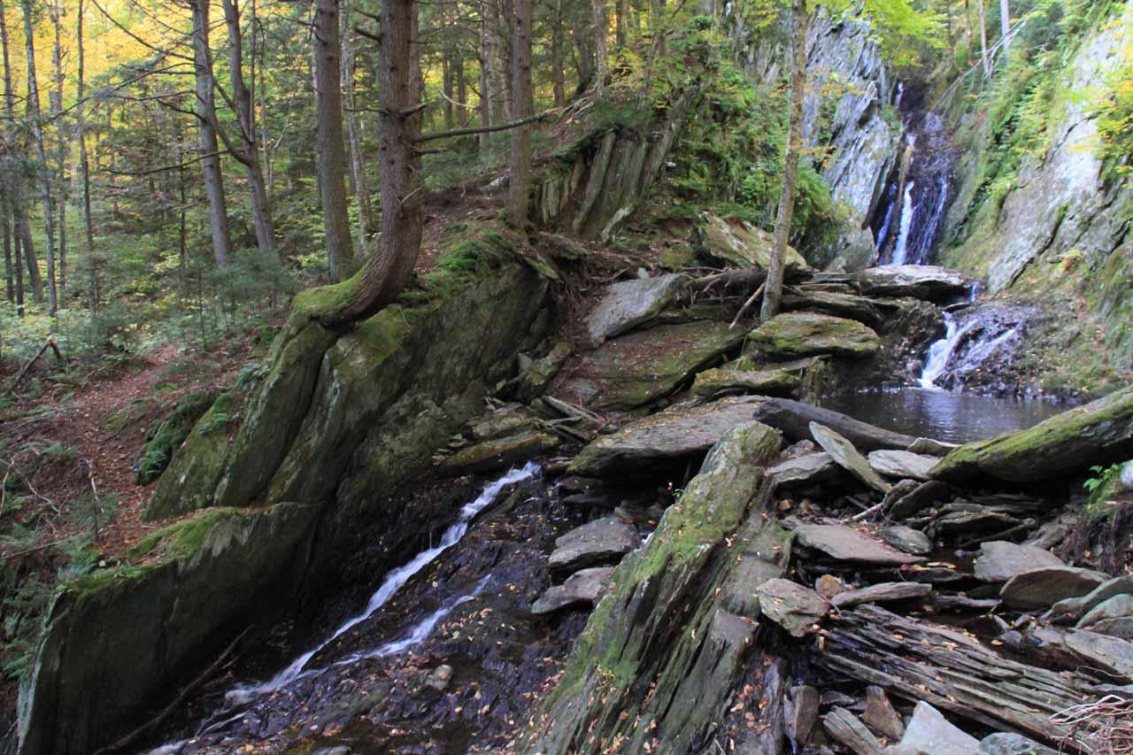 Contextual look at Parker Brook Falls