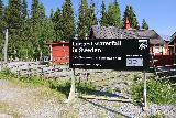 Tannforsen_164_07122019 - Back at the car park with a large sign proclaiming that Tannforsen was the largest waterfall in Sweden