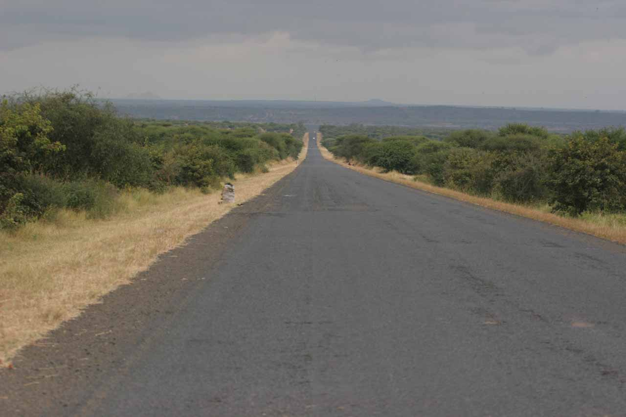 Driving into rural Tanzania