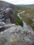 Taranaki_Falls_064_11162004 - Looking over the top of Taranaki Falls