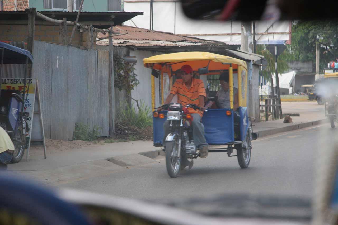 Motorcars prevalent in Tarapoto
