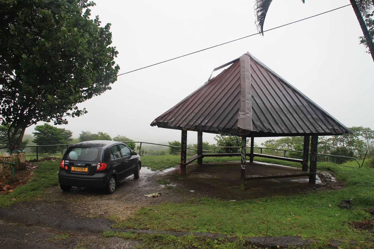 The viewpoint on the Plateau of Taravao