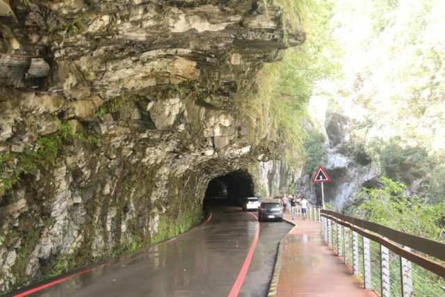 Taroko_Gorge_006_10262016 - Technically, you can't park long term in this part of the road by the Swallow Grotto section of the Taroko Gorge so we had to keep going to find more legitimate parking spaces