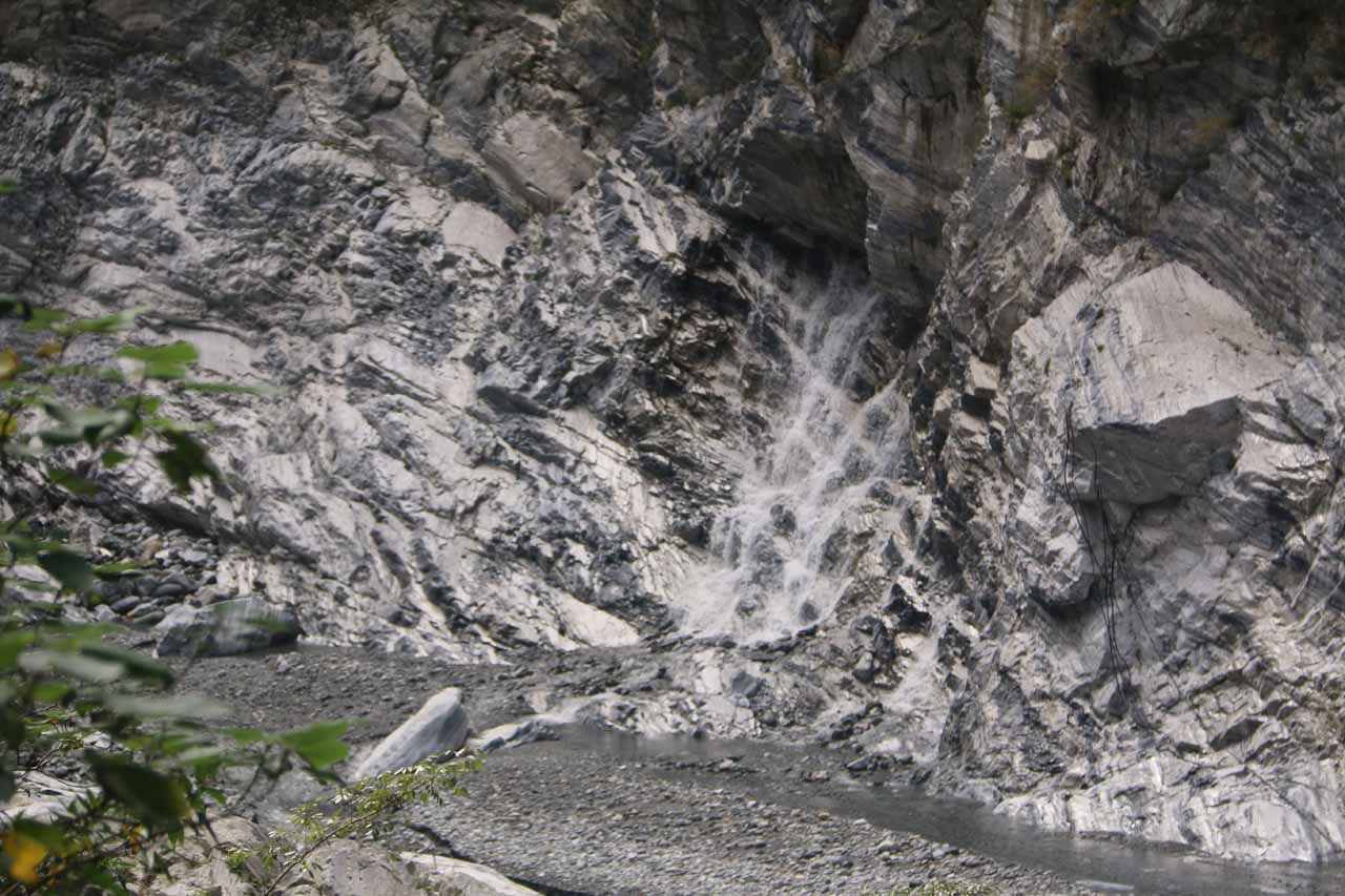 This was one of the waterfalls emerging as a spring coming out of the marble cliffs