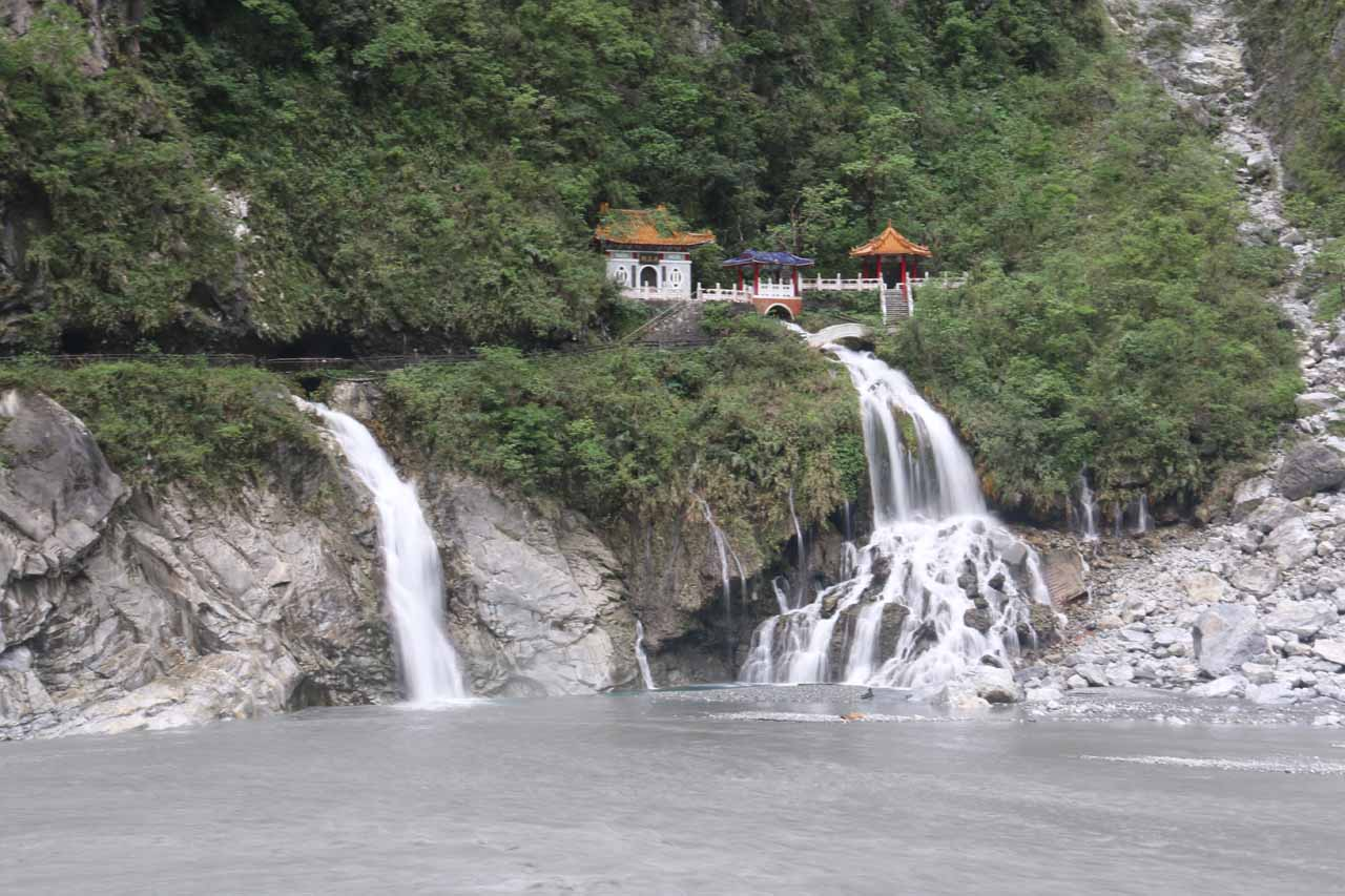 The waterfall at the Eternal Spring Shrine within the Taroko Gorge