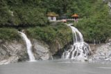 Taroko_Gorge_260_10262016 - Fast exposure shot of the Shrine of the Eternal Spring and its waterfall