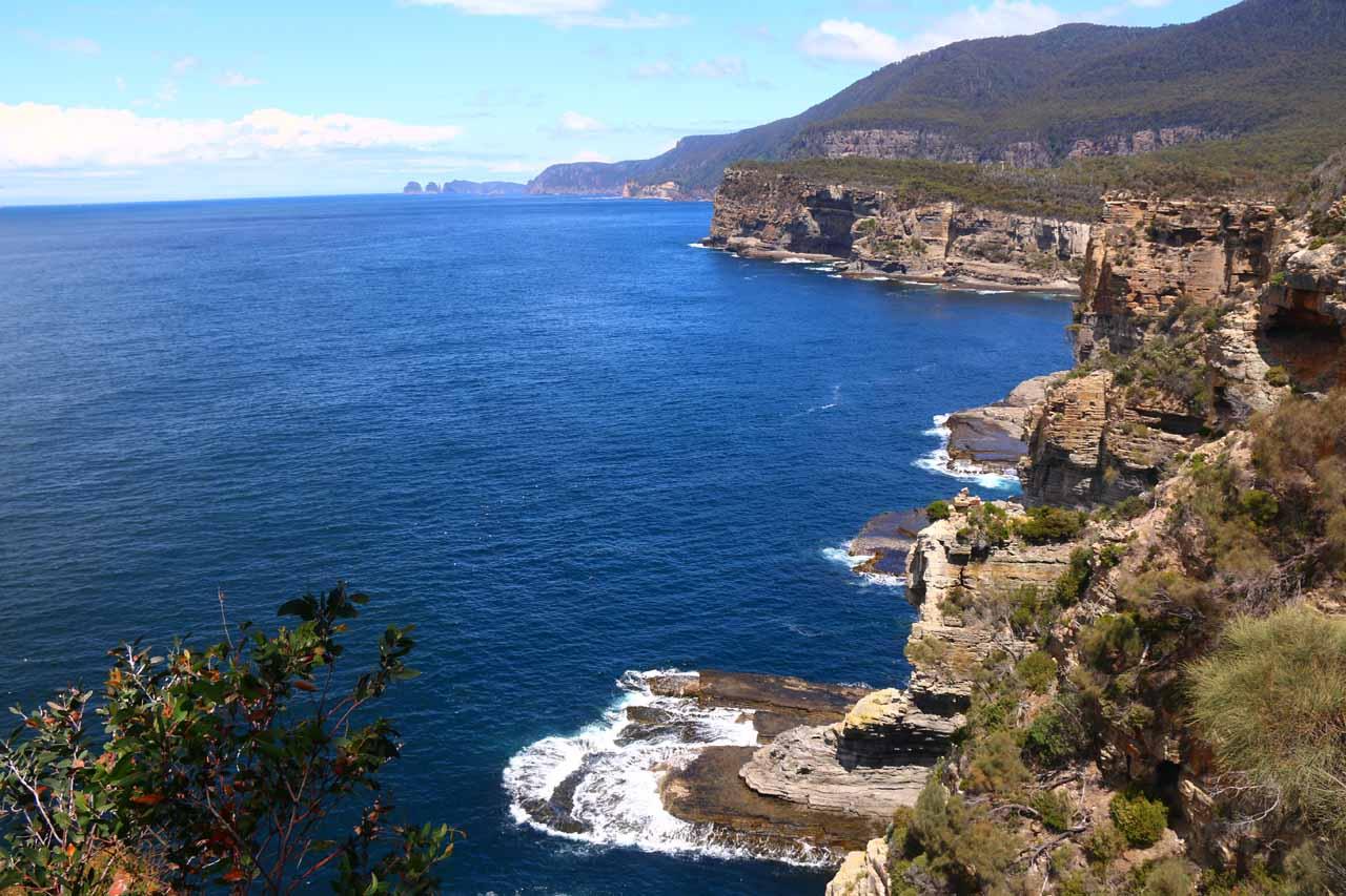 The rugged coastline of the Tasman Peninsula