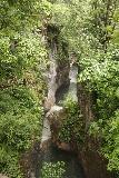 Tatzelwurm_Waterfall_009_06282018 - Looking downstream over the lower drops of the Tatzelwurm Waterfall from the bridge fronting the Upper Tatzelwurm Waterfall
