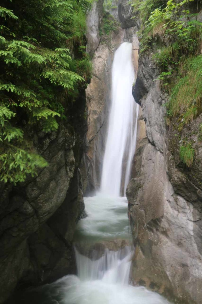 The lower Tatzelwurm Waterfall (Tatzelwurm Waterfall)