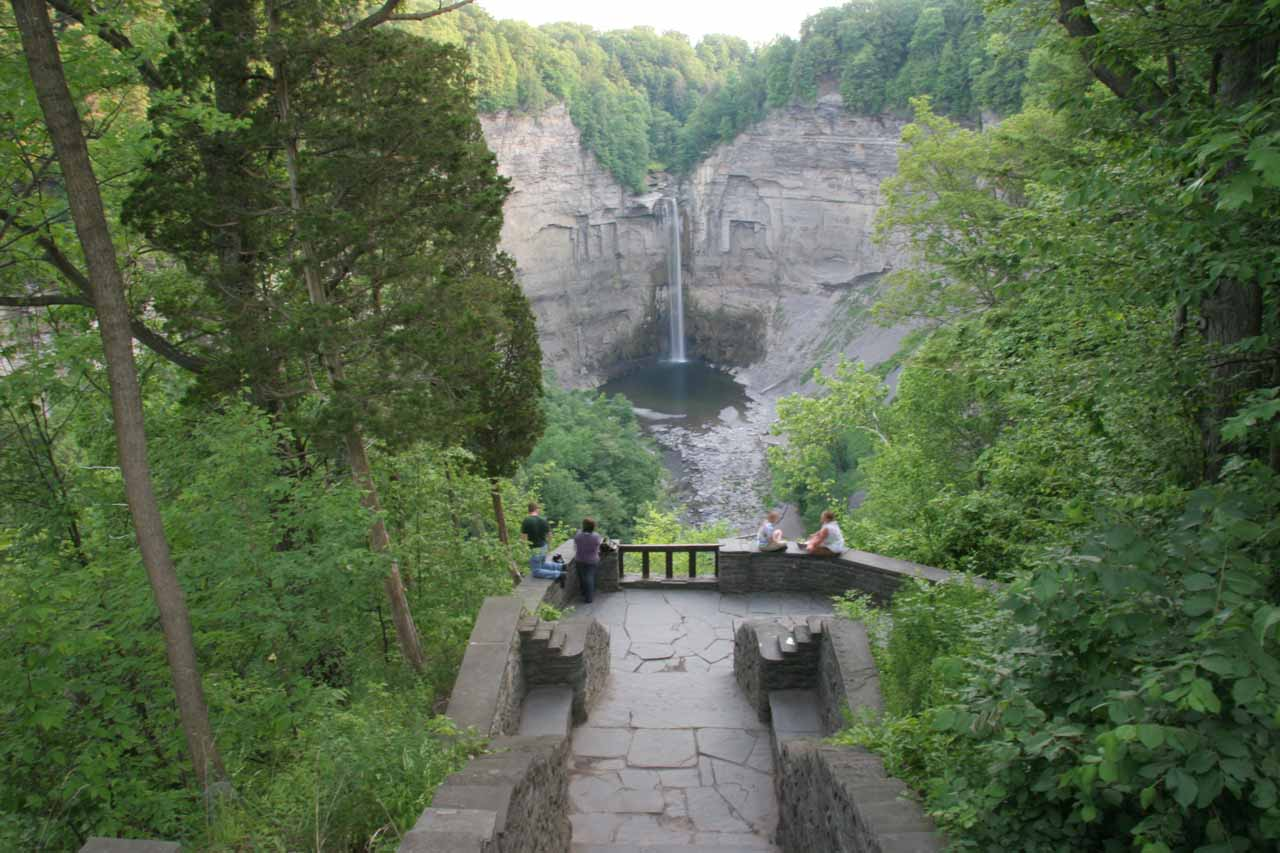 Descending towards the upper viewpoint for Taughannock Falls