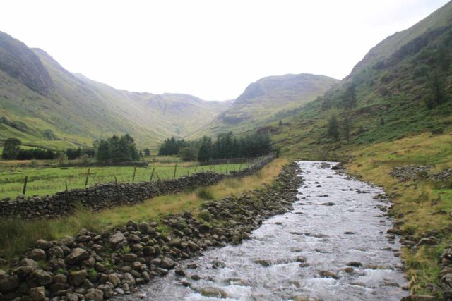 Taylor_Gill_Force_029_08182014 - Looking upstream towards the head of Borrowdale Valley from the footbridge over the River Derwent